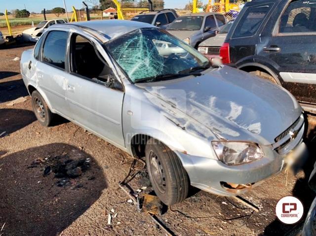 Uma pessoa fica ferida em acidente entre Peabiru e Campo Mourão
