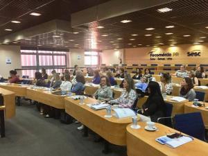 As presidentes da Cmeg de Campo Mourão participaram de encontro em Curitiba