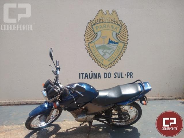 Policiais Militares da 3ª CIPM apreendem motocicleta e notificam condutor em Itaúna do Sul