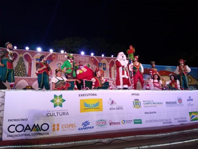 Jardim Tropical recebe espetáculo de Natal na noite desta terça-feira, 03 em Campo Mourão