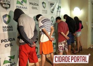 5 pessoas são presas por tráfico de drogas na Vila Cândida em Campo Mourão