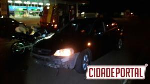 Acidente próximo ao Parque de Exposições em Campo Mourão deixa uma pessoa com ferimentos