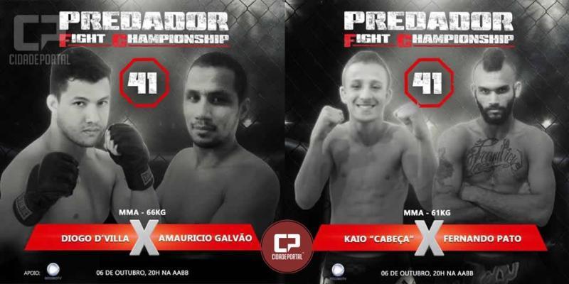 Dois atletas Goioerenses estarão participando do evento Predador Fight Championship dia 06 de outubro