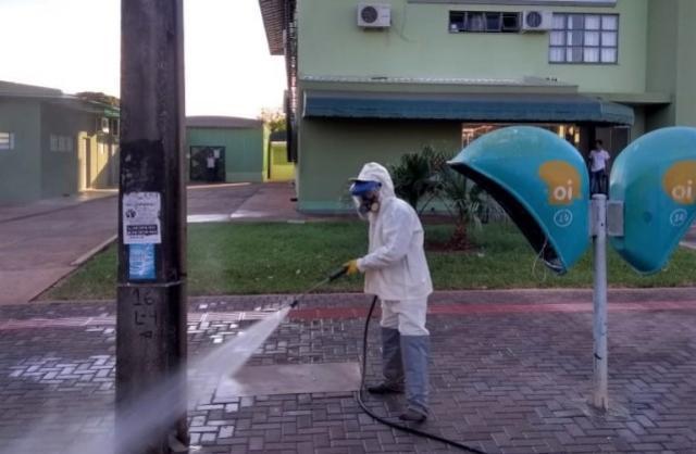 Região do Ciscomcam também recebeu desinfecção nesta sexta-feira, 03