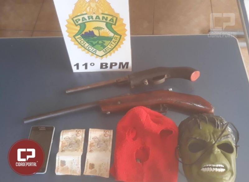 Polícia Militar de Engenheiro Beltrão prende autores de roubo em residência