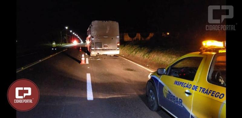 Acidente envolvendo Ônibus e Caminhão quase termina em tragédia entre C. Mourão e Peabiru
