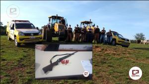Forças Policiais recuperaram dois tratores roubados por quadrilha armada em Quinta do Sol