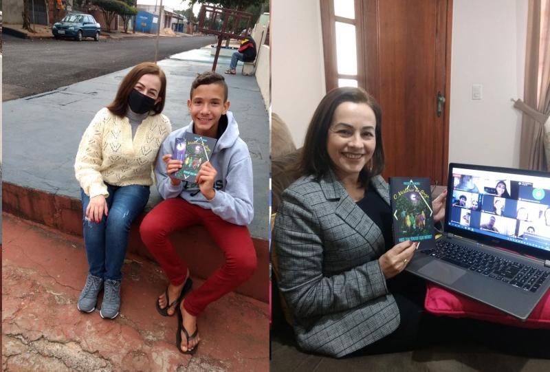 Escritora mourãoense em live com estudantes de São Paulo