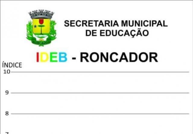 Secretaria de Educação de Roncador comemora resultado do IDEB