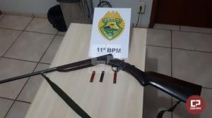 Policiais Militares apreendem espingarda, motocicleta e animais abatidos em Iretama