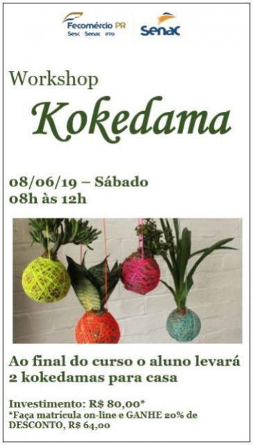Abertas as Inscrições para o curso de Workshop de Kokedama em Campo Mourão
