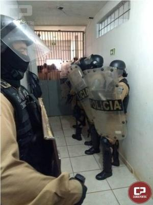 Operação Bate Grade na cadeia pública de Engenheiro Beltrão apreende celulares, drogas e ferramentas