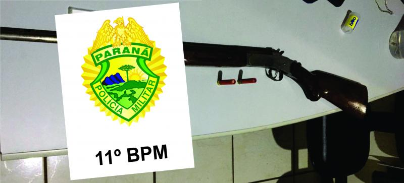 Uma pessoa foi presa pela Polícia Militar por posse ilegal de arma de fogo em Roncador