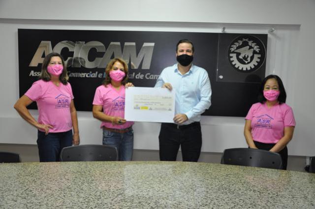 Renda de promoção da ASR foi repassada para a Casa das Fraldas de Campo Mourão