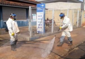 Campo Mourão continua com a desinfecção em busca de conter o COVID-19