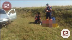 Capotamento na PR-158 no anel viário de Campo Mourão deixa uma pessoa com ferimentos