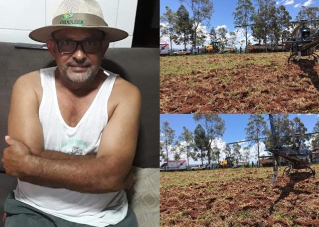 Morador de Quinta do Sol fica gravemente ferido após explosão de pneu de motoniveladora