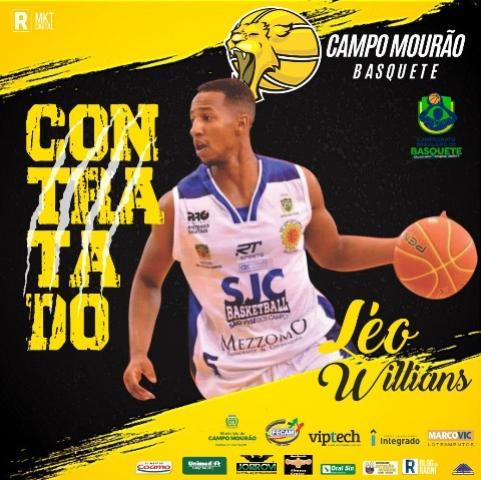Léo Willians é o primeiro reforço anunciado pelo Campo Mourão Basquete para o Brasileirão