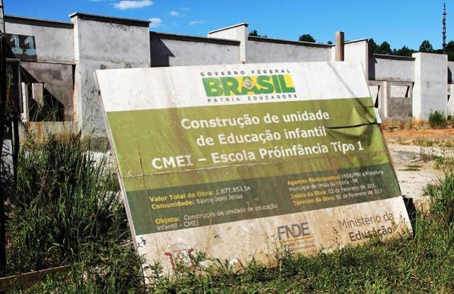 Região da Comcam tem cinco grandes obras públicas paralisadas em 4 municípios