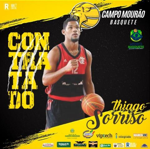 Thiago Sorriso, ex-Flamengo, é anunciado pelo Campo Mourão Basquete