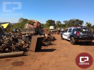 Polícia Civil cumpre mandado de busca e apreensão em Ferro Velho na cidade de Engenheiro Beltrão