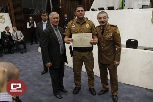 Policiais do 11° Batalhão recebem homenagem na Assembleia Legislativa do Paraná
