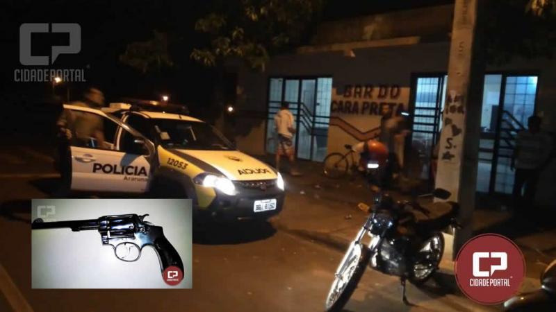 Polícia Militar de Araruna realiza abordagem a um Bar e prende uma pessoa por posse irregular de arma de fogo