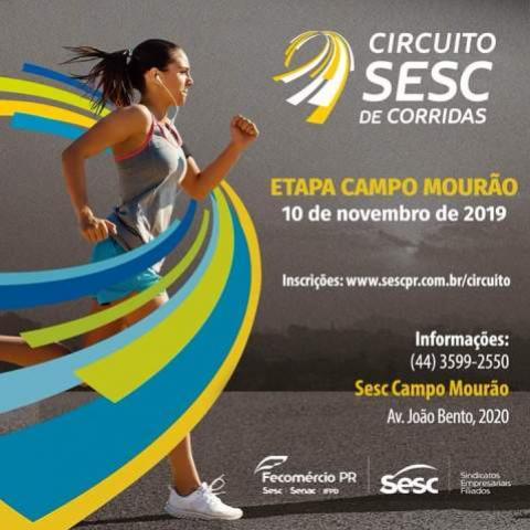 Campo Mourão sedia etapa do Circuito Sesc de Corridas