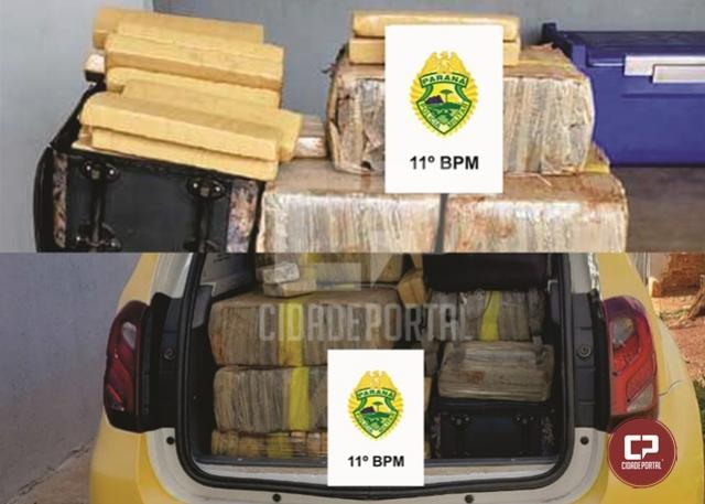 Polícia Militar apreende quase 200 kg de maconha em residência na cidade de Campo Mourão
