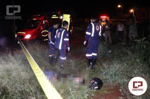 Jovem de 28 anos foi morto com diversos disparos de arma de fogo em Campo Mourão