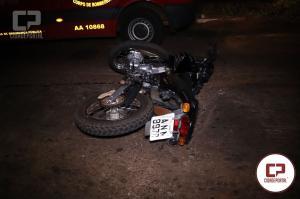 Motociclista de Juranda sofre ferimentos após se envolver em acidente em Campo Mourão