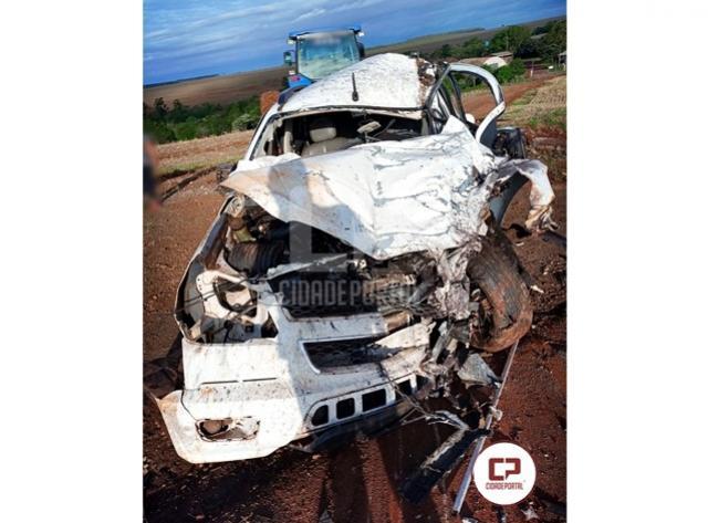 Duas pessoas ficam gravemente feridas após acidente em Campo Mourão