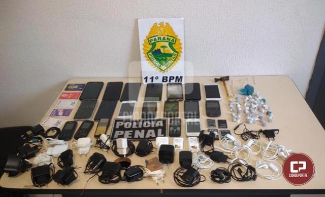 Operação bate grade resulta na apreensão de 21 celulares na cadeia pública de Engenheiro Beltrão