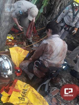 Homem cai em poço e fica prensado embaixo de tampa de concreto em Luiziana