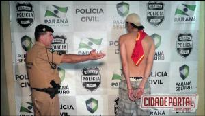 Policia Militar de Campo Mourão prende morador suspeito de agredir enteada de 07 anos de idade