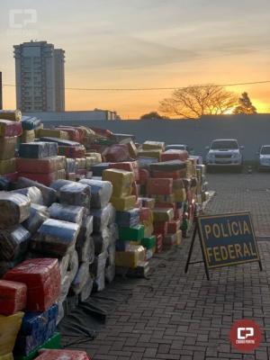 Polícia Federal apreende 23 toneladas de maconha em abordagem na cidade de Campo Mourão