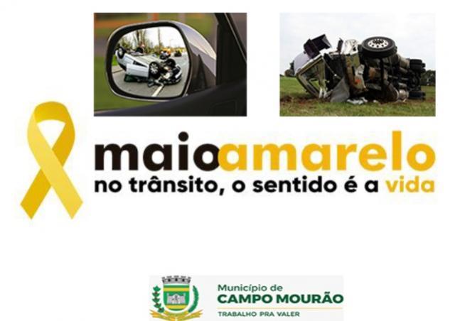Movimento Maio Amarelo tem blitz para pedestres nesta semana em Campo Mourão