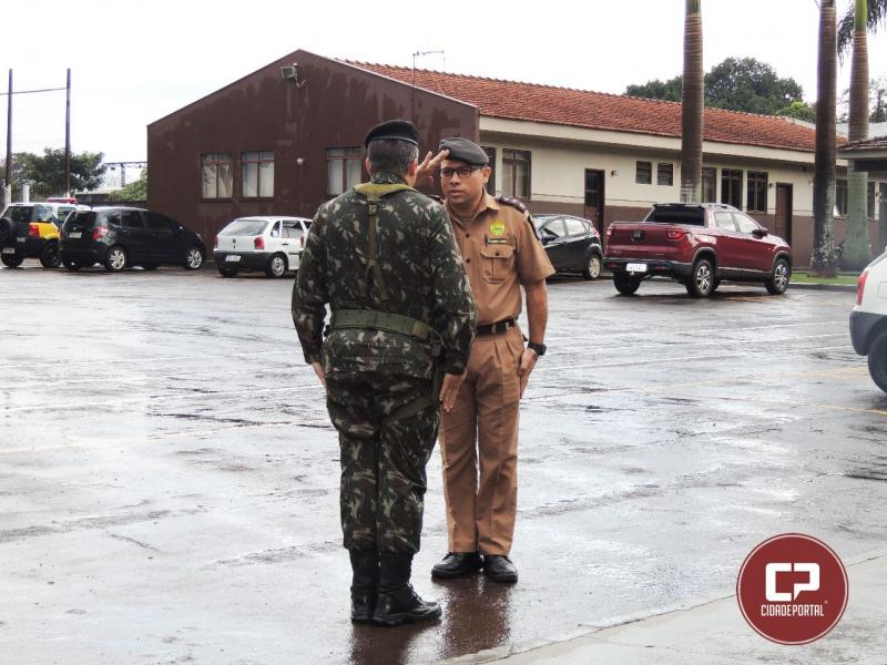 Comandante da Infantaria Motorizada do Exército do 33º BIM de Cascavel visita sede do 11º Batalhão de C.Mourão