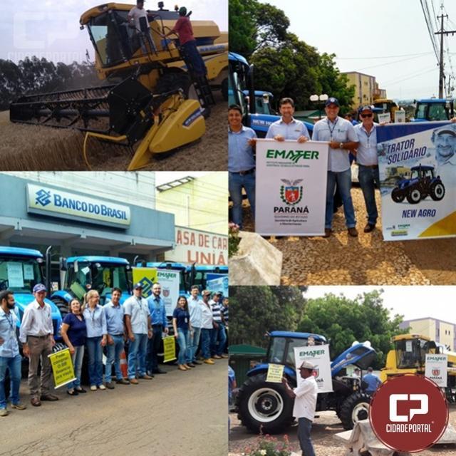 Grande evento em Iretama reuniu lideranças e produtores para entrega de tratores e colheitadeira