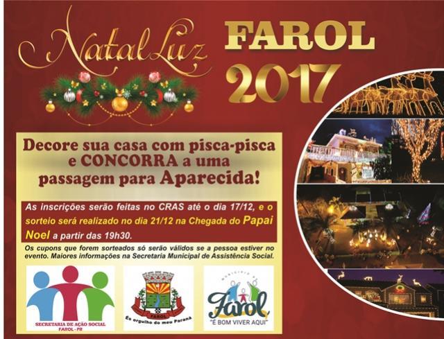 Natal de Luz 2017: inscrições abertas para os moradores de Farol