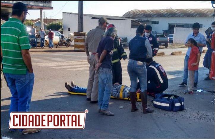 Acidente na Perimetral Tancredo de A.Neves esquina com a Rua Engenheiro Merce deixa duas pessoas feridas em campo Mourão