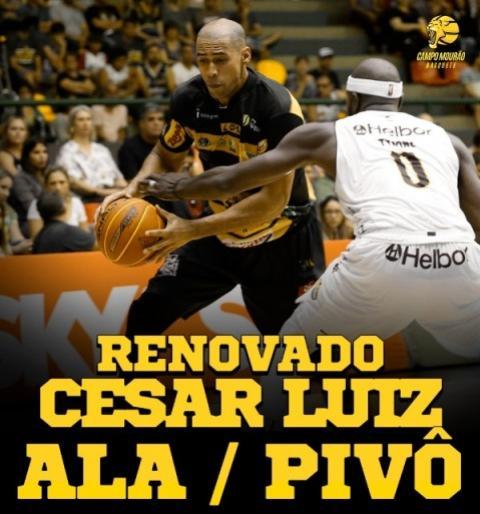 Campo Mourão Basquete vence disputa com outras equipes e anuncia renovação do ala/pivô Cesar