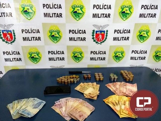 Polícia Militar age rápido e prende suspeito de roubar farmácia em Engenheiro Beltrão