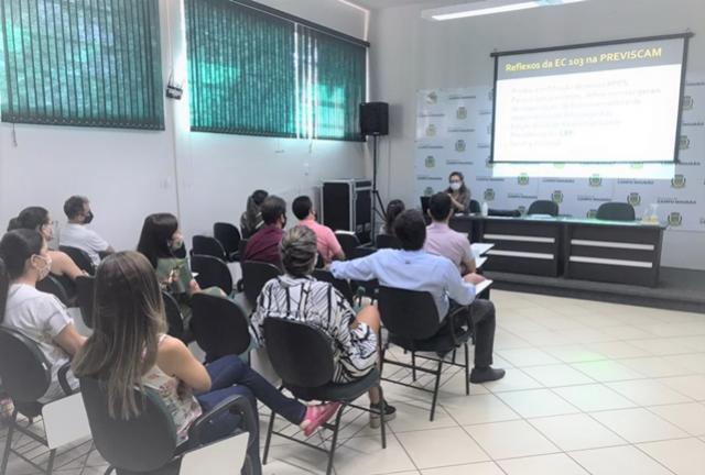 Emenda da Reforma da Previdência é tema de reuniões entre a Previscam e Servidores Municipais