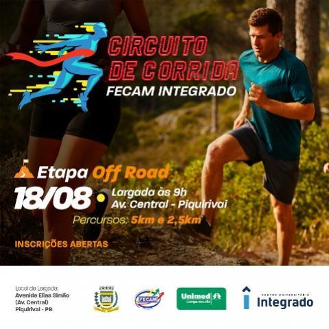 Abertas as Inscrições para a 3ª etapa do Circuito de Corrida em Campo Mourão