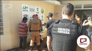 Quadrilha de Mamborê é presa após tentativa de assalto a ônibus no anel viário