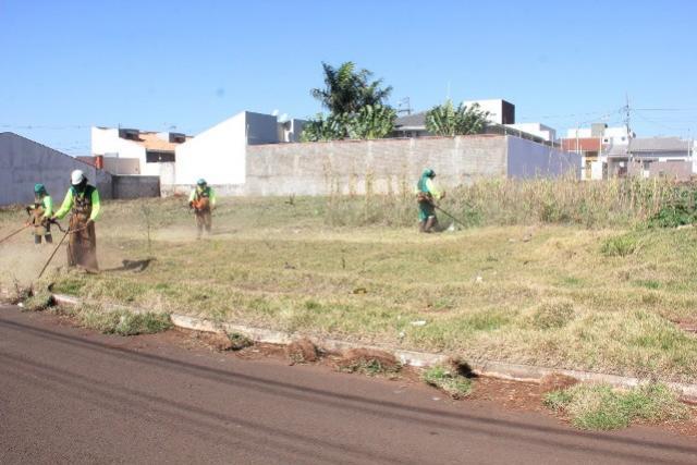Proprietários de imóveis de 18 bairros são notificados a limparem lotes em Campo Mourão
