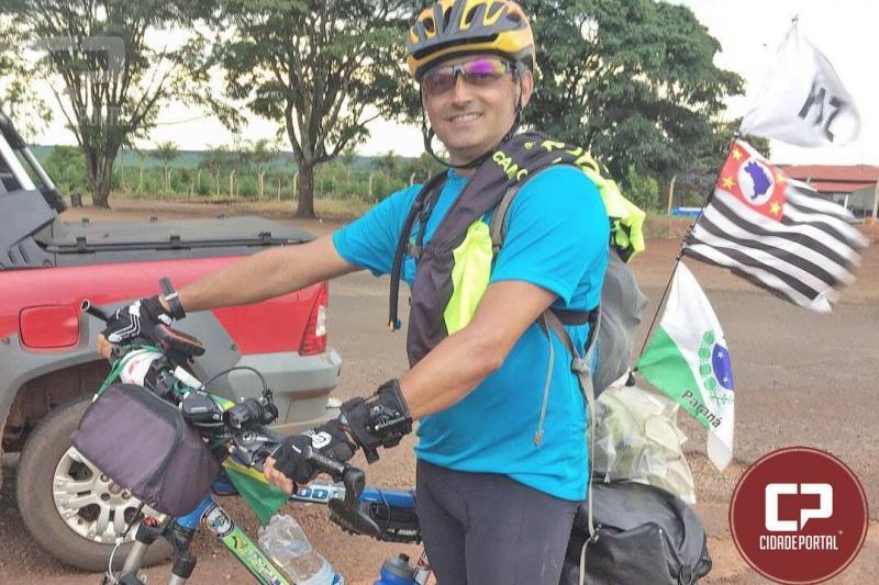 Vagner Gomes de Souza: Ciclista Rádio Amador passa por Campo Mourão