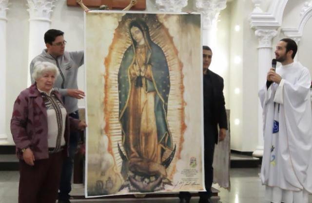 Réplica da imagem de N. Sra de Guadalupe é acolhida no Santuário em Campo Mourão