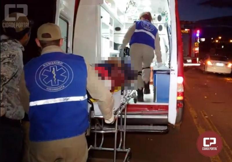 Uma pessoa teve ferimentos graves com acidente na PR-467 em Campo Mourão, saída para Luiziana